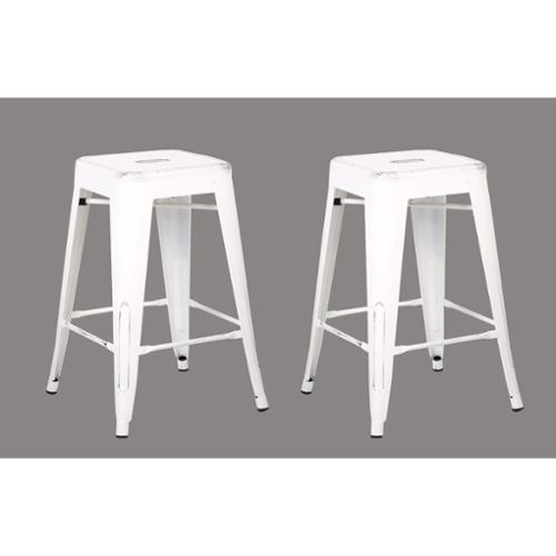 Ac Pacific Steel 24 Inch Bar Stool Set Of 2 Walmartcom