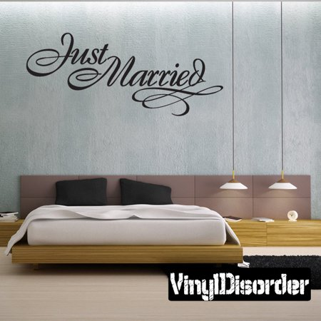 Just Married Marriage Wedding Celebrations Vinyl Wall Decal Mural Cool Just Married Quotes