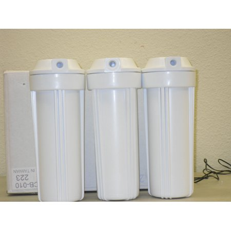 "3 Reverse Osmosis 10"" Slimline Housing for Water Filters"