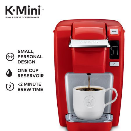 Keurig K Mini Coffee Maker Single Serve Cup Pod K15 Brewer Chili Red