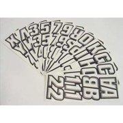 HARDLINE PRODUCTS GWHBLK500 Number and Letter Combo Kit,White/Black