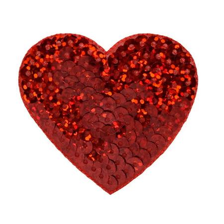 Heart Sequin Applique (Valentine - Large  - 2