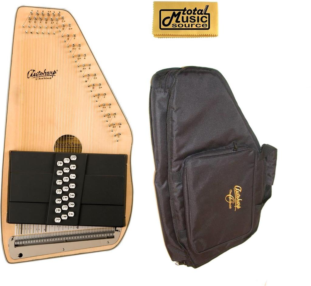 Oscar Schmidt 21 Chord Autoharp w/ Gig Bag, Spruce Top, Maple Body, OS10021-AC445