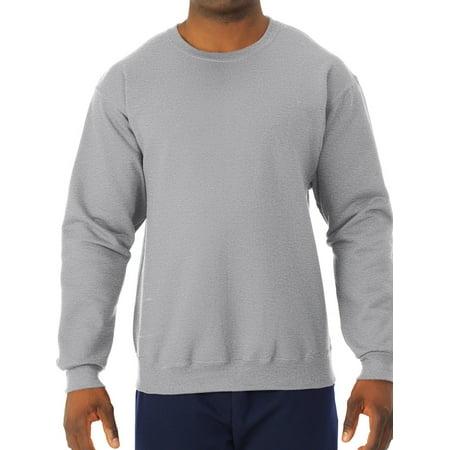 Jerzees Men's and Big Men's Fleece Crew Neck Sweatshirt, up to Size 3XL Champion Crew Neck Sweatshirt