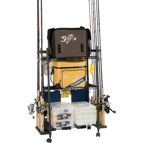 Organized Fishing Tackle Trolley