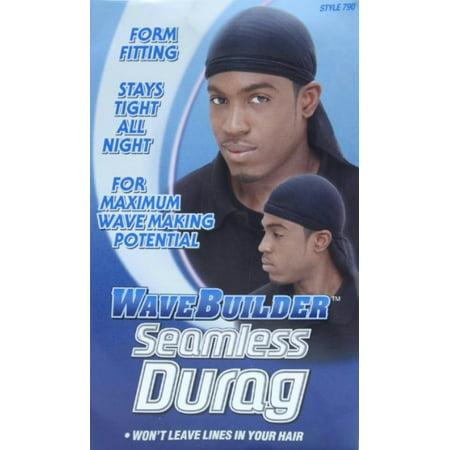 4 Pack - WaveBuilder Seamless Du-Rag Black, 1 - Dora G