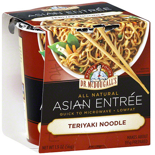 Dr. McDougall's Entrees Teriyaki Noodles, 1.9 oz (Pack of 6)