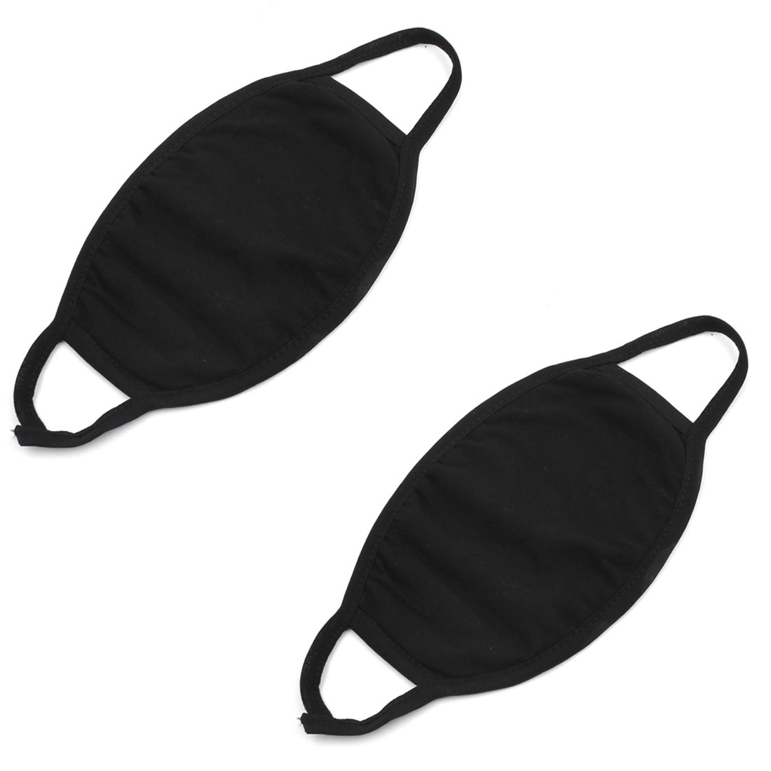Unisex Outdoor Cycling Sport Anti-dust Face Mouth Mask Muffle Black 2pcs