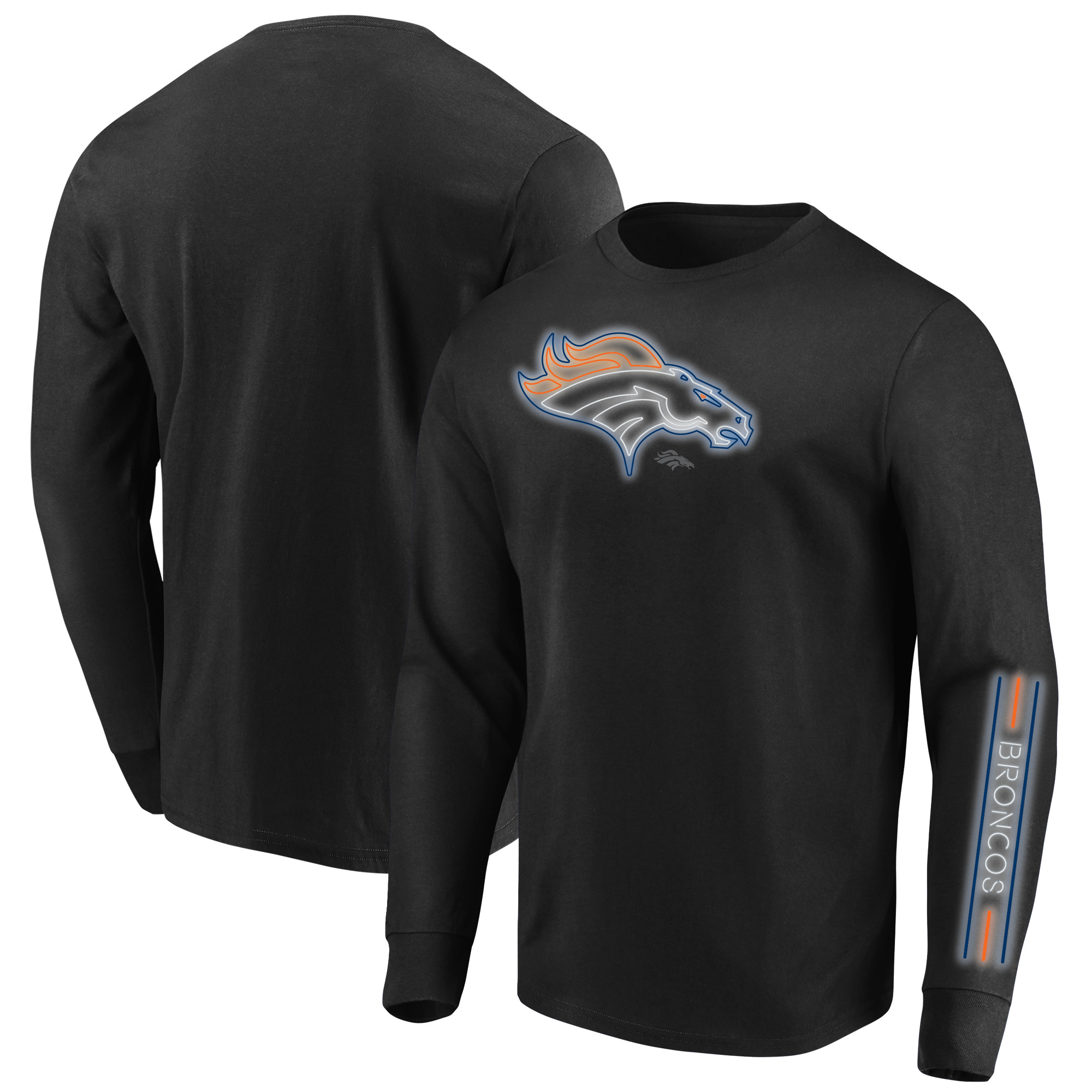 Denver Broncos Majestic Big & Tall Startling Success Long Sleeve T-Shirt - Black