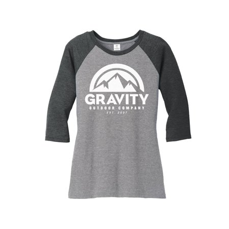 Womens Gravity Outdoor Co. 3/4-Sleeve Raglan Shirt Supply Co Raglan