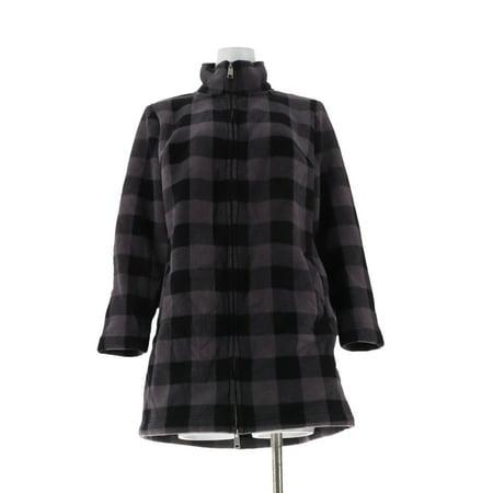 Sherpa Lined Denim (Denim & Co Sherpa Lined Fleece 2-Way Jacket A299335)