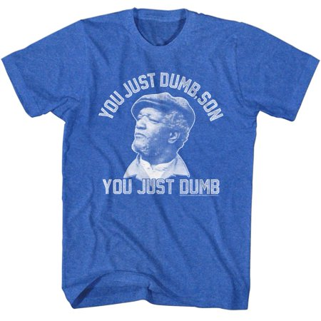 Redd Foxx 1970s You Just Dumb Comedy Sanford and Son Sitcom Adult T-Shirt Tee](Clothes Of The 1970s)