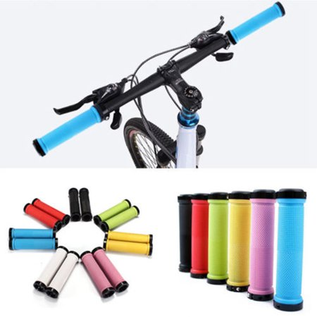 Rubber + Aluminnum Alloy Lock-on Nonslip Bike Bicycle MTB Cycling Handle Bar Set Grip 10 Colors (Bicycle Handle Grips)