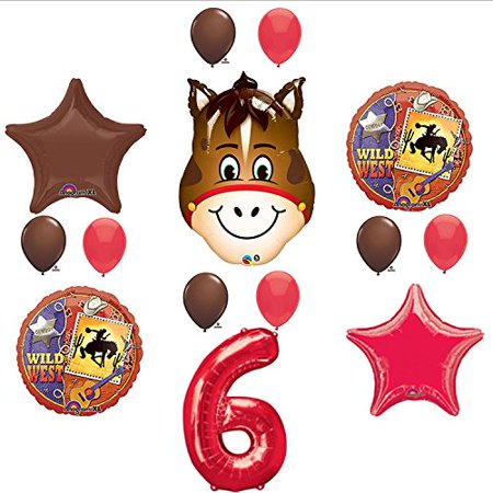 Wild West Cowboy Western 6th Birthday Party Supplies and Balloon Decorations](Wild Wild West Decorations)