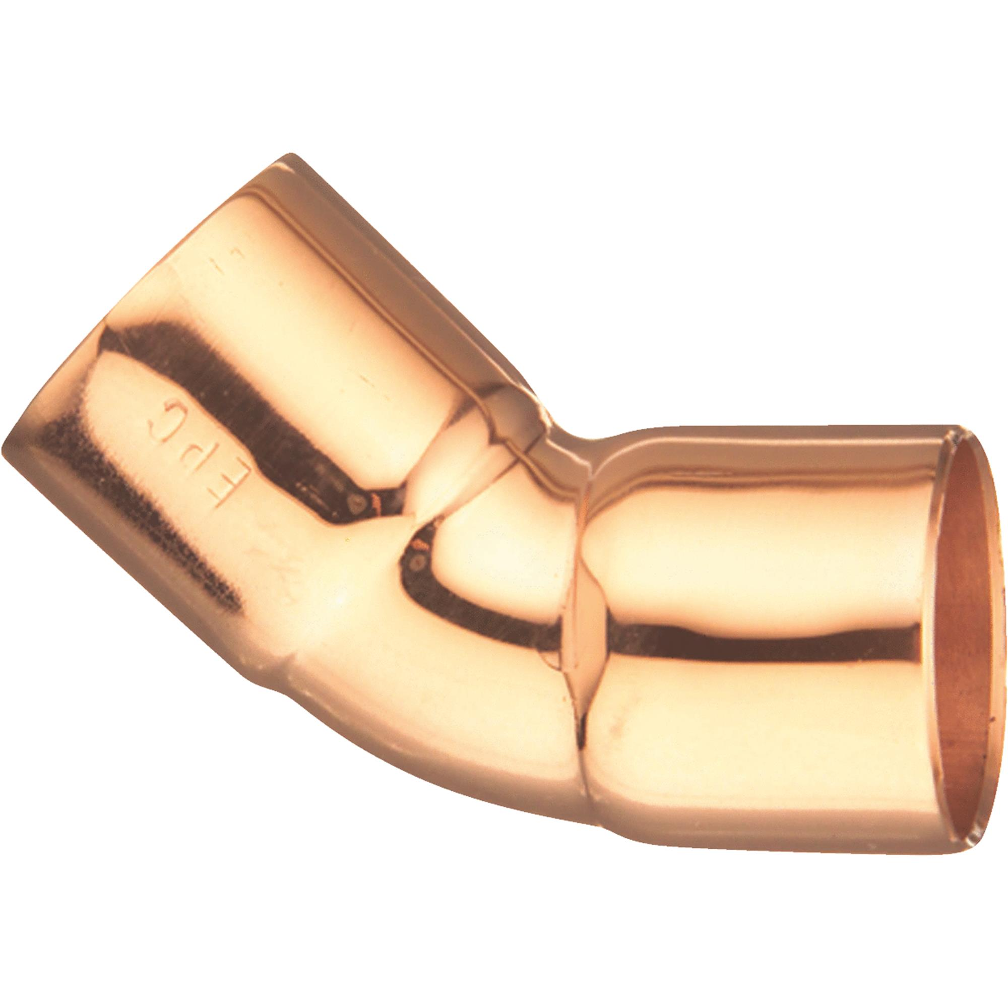 EPC 31106 Solder Pipe Elbow 45 deg 3/4 in Copper Wrot Copper