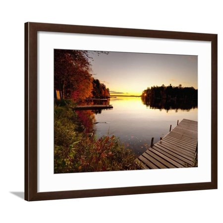 Lake Millinocket at Sunrise, Baxter State Park, Maine, New England, USA, North America Framed Print Wall Art By Alan