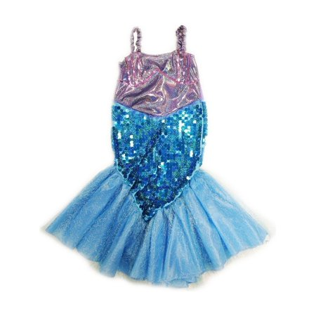 Wenchoice Girls Purple Blue Sequin Halloween Mermaid - Mermaid Dress Halloween
