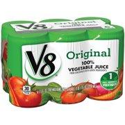 V8 Original 100% Vegetable Juice, 5.5 fl oz, 6 pack