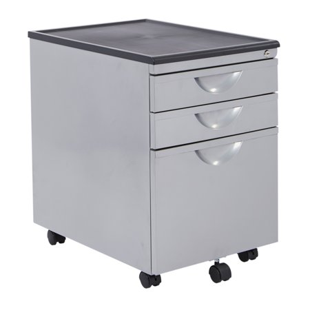 File Cabinet 3 Finishes (Messina File Cabinet with 3 Drawers in Silver)