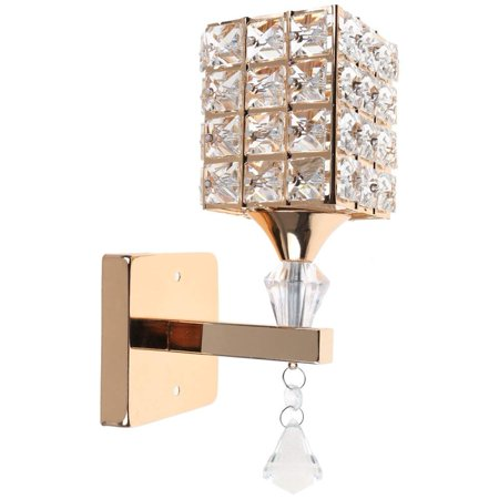 Artistic Modern Crystal Wall Lights, Gold Chrome Finish Indoor LED Sconce Wall Lights for Living Room Bedroom, 1pcs Wall Mounted Bedside Lamps, Simple Wall Lamp for Home Hotel Corridor