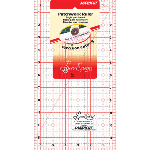 "SewEasy Patchwork Quilt Ruler, 12"" x 6.5"""
