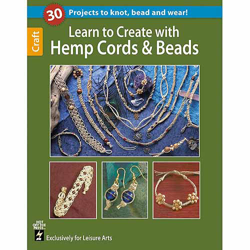 Leisure Arts, Learn to Crochet with Hemp Cords and Beads