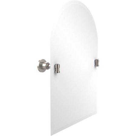 Frameless Arched Top Tilt Mirror with Beveled Edge (Build to (Brass Chrome Mirror)