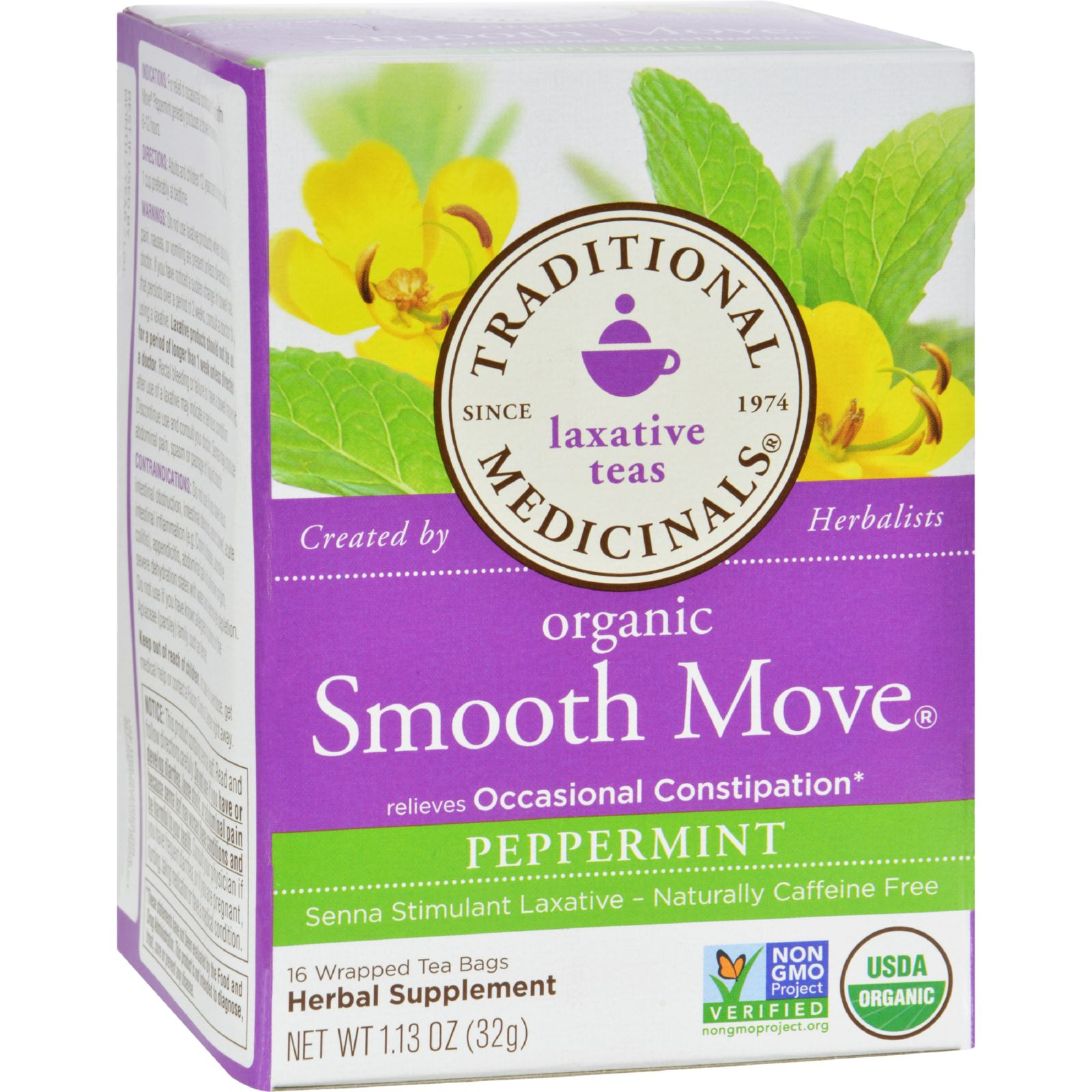 Traditional Medicinals Organic Smooth Move Peppermint Her...