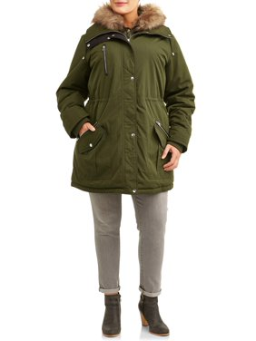 Time and Tru Women's Plus Size Heavyweight Anorak Jacket