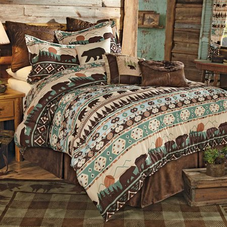 Sierra Mountain Bear Bed Set Queen Walmart Com