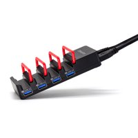 OImaster USB3.0 Hub Adapter 4 Ports Charging Station High Speed Phone Support with Power Adapter for PC Laptop