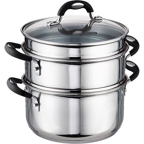 Tramontina 3 Quart Stainless Steel Steamerdouble Boiler Stock Pot