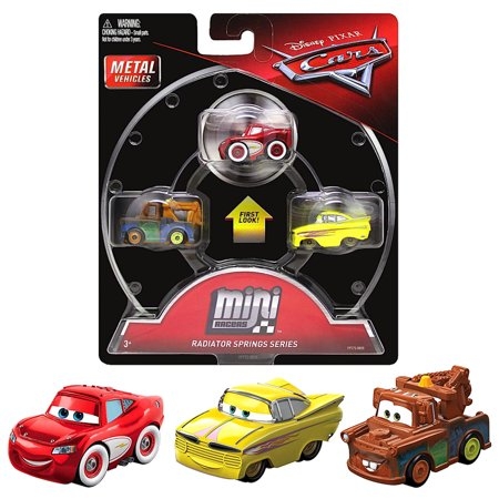 Mini Racers Radiator Springs Series Diecast 3-Pack Cars with Crusin Lightning McQueen