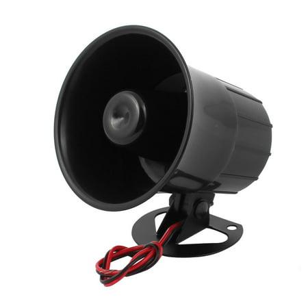 110dB Anti-theft Alarm Siren Horn Speaker Black for Auto Car DC 12V 15W (15w Siren)