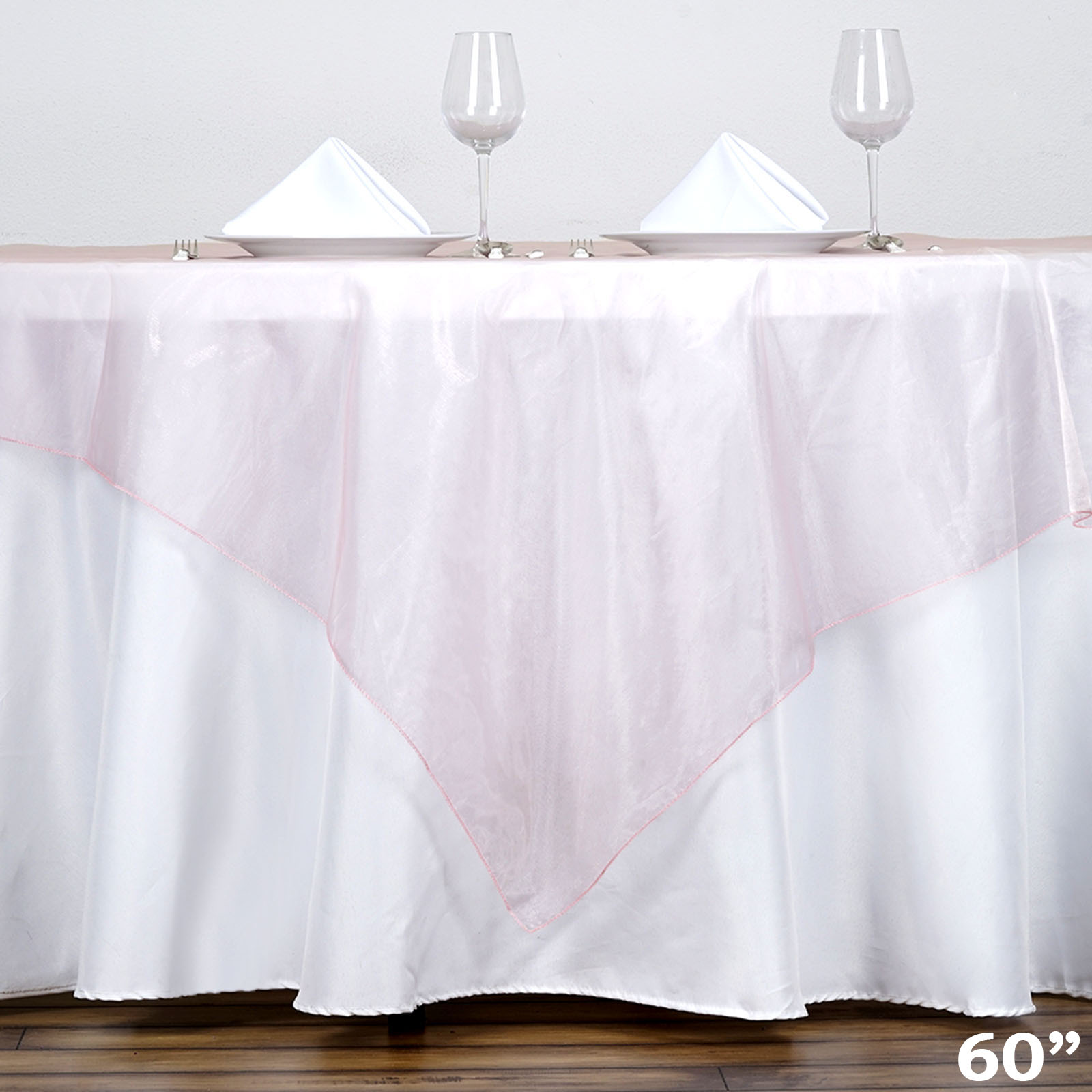 "BalsaCircle 60"" x 60"" Sheer Organza Table Overlays Wedding Party Reception... by"