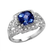 Foreli 3.34CTW Tanzanite And Diamond 10k White Gold Ring