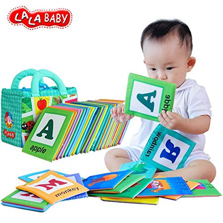 LALABABY 26 Letters Cloth Card with Cloth bag Early Education Toy for Over 0 Years - image 1 de 4