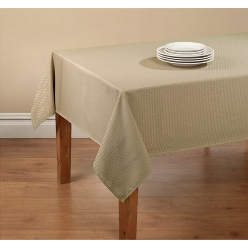 Mainstays Hyde Tablecloth With Table Protector, Multiple Colors And Sizes  Available