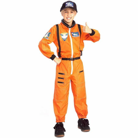 Astronaut Child Halloween - Kids Orange Jumpsuit Costume
