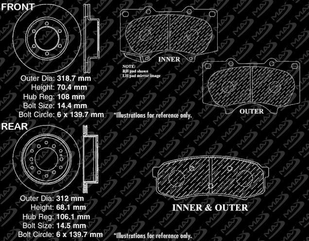 Premium Slotted Drilled Rotors + Ceramic Pads KM008933 Max Brakes Front /& Rear Supreme Brake Kit Fits: 2006 06 2007 07 2008 08 2009 09 2010 10 Mazda 3 2.0L Models