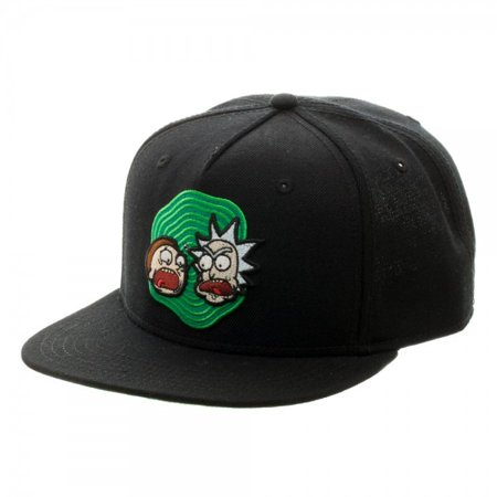 b31908cd76b Baseball Cap - Rick And Morty Black Snapback Hat Licensed sb4g9jric -  Walmart.com