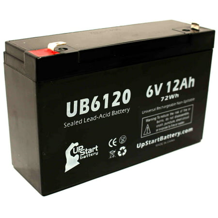Compatible APC Network Powercell BD Battery - Replacement UB6120 Universal Sealed Lead Acid Battery (6V, 12Ah, 12000mAh, F1 Terminal, AGM, SLA) - Includes TWO F1 to F2 Terminal Adapters