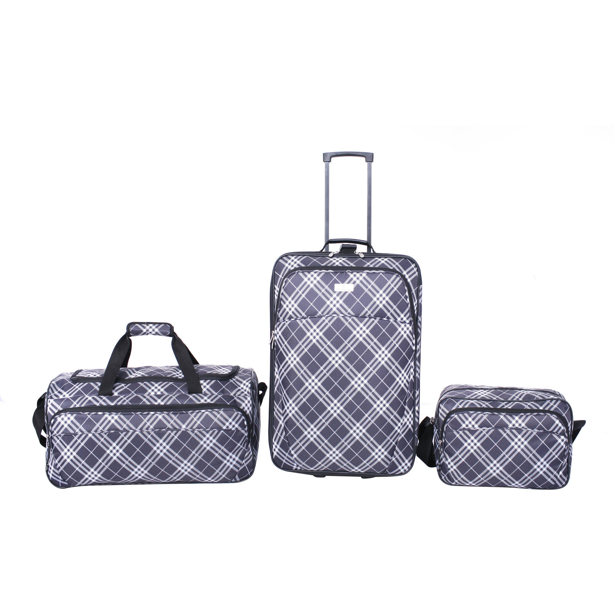 Protege 3-Piece Plaid Luggage Set