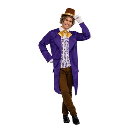 Willy Wonka Deluxe Costume Adult Size Standard Large (Children's Willy Wonka Costume)
