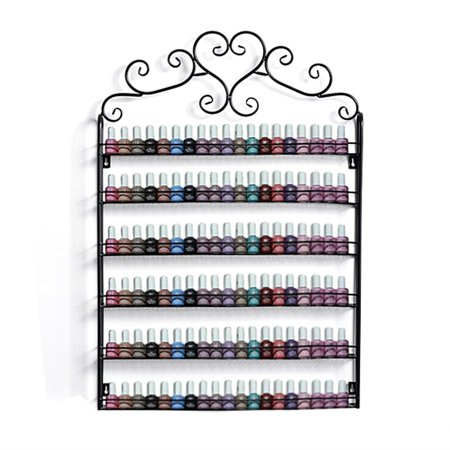 6 Tier Nail Polish Organization Rack Wall Mount Holder