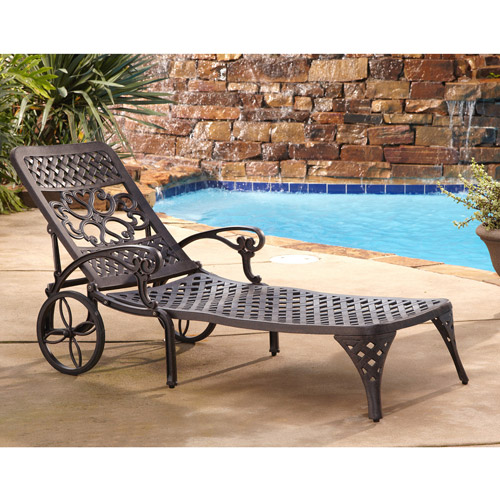 Home Styles Biscayne Outdoor Chaise Lounge Chair  sc 1 st  Walmart : aluminum chaise lounge - Sectionals, Sofas & Couches