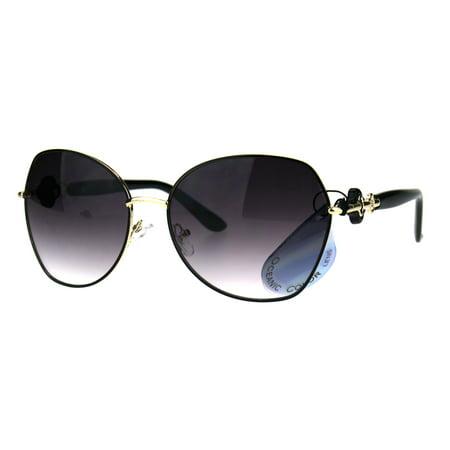 Womens Oversize Butterfly Designer Fashion Diva Sunglasses Black Smoke