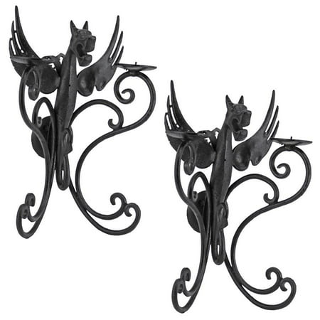 outlet store 8f3b2 e36dd Castle Dragon Wall Sconces: Set Of 2