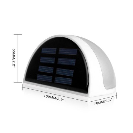 Ktaxon 6-LED Solar Powered Garden Security Light Outdoor Fence Wall Lamp Waterproof - image 2 de 6