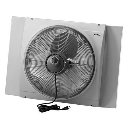 - Air King 20 Inch Blades Whole House 120V 3 Speed Window Fan, Gray | 9166